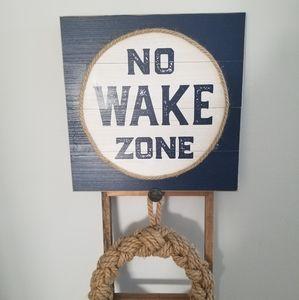 🌊No Wake Zone Wooden Pic🌊